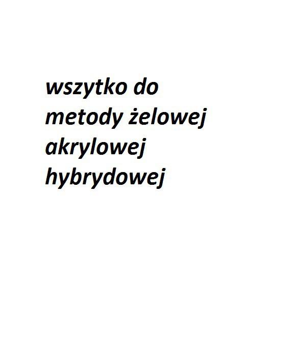 Kosmetyki żel hybryda akryl
