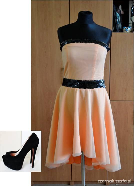 Na specjalne okazje Zestaw asymetryczna sukienka