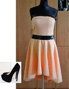 Zestaw asymetryczna sukienka...