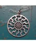 kolovrat kołowrót słowiański symbol pagan srebro...
