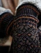 Rękawiczki w delikatne norweskie wzorki