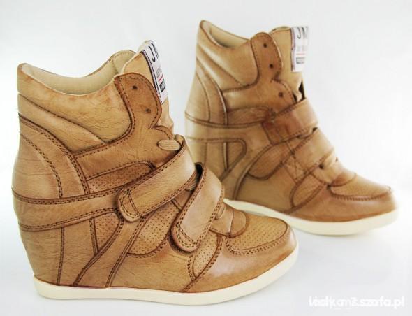 sneakers sneakersy trampki na koturnie