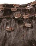 TRESKA CLIP IN BRĄZ 100PROCENT NATURALNA włosy