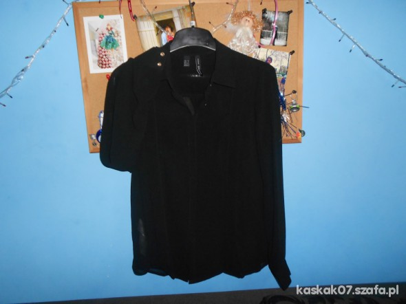 Koszule Czarna koszula Mango