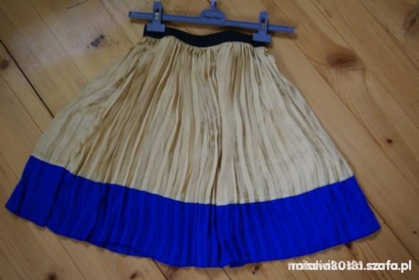 spódniczka ombre plisowana kobalt musztarda hit w Spódnice
