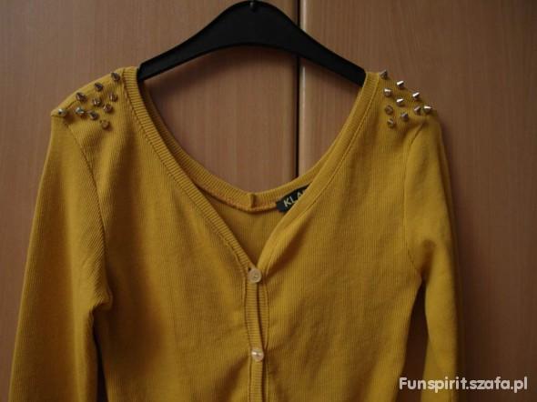 Swterek musztardowy Ćwieki rozmiar XS Sweter