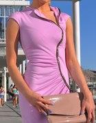 Piękna sukienka River Island Kasi Tusk fiolet zip...