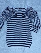 sweter w paski z zebrami...