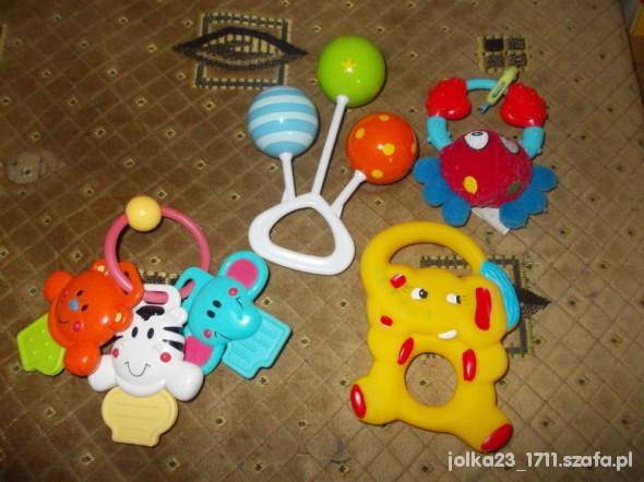 Zabawki zestaw 4 grzechotek