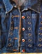 krótka jeansowa kamizelka