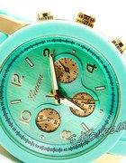 Złoty Zegarek GENEVA jelly watch silikonow MIĘTOWY