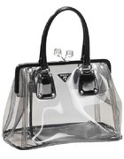 prada clear bag...
