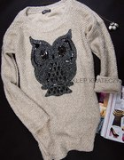 Sweter z nadrukiem sowy