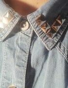 Jeansowa koszula ćwieki...