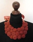 naszyjnik kolia handmade roże czerwone zamki DIY...