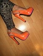 orange open toe