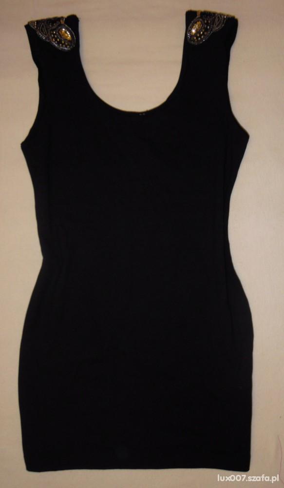 H&M sukienka z pagonami ćwieki bandage S