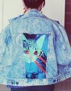 Jeansowa kurtka marmurkowa DIY