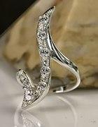 Pierścień ze srebra z cyrkoniami