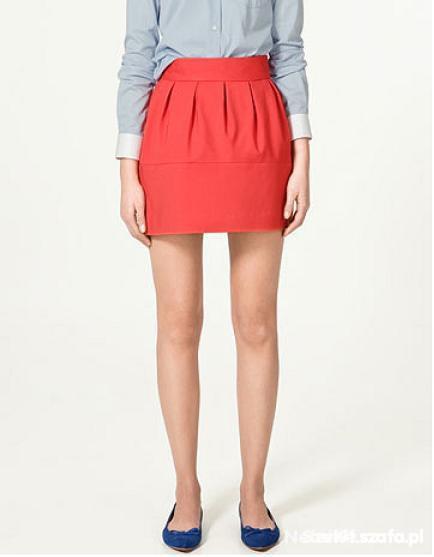 koralowa spódniczka Zara