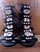 Sandałki SZPILKI Kamienie