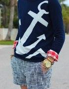 Sweterek z kotwicą