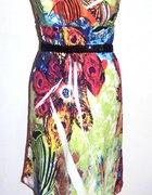 nowa letnia sukienka w pawie pióra 36 38