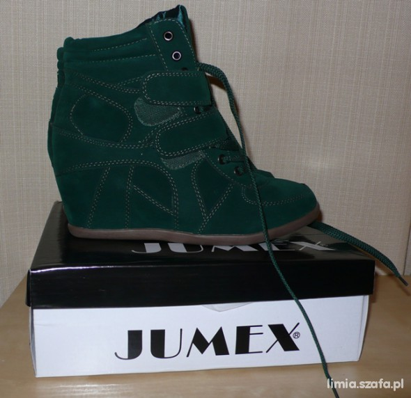 Sneakersy czasnabuty zielone