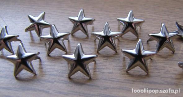 Pozostałe Ćwieki gwiazdki gwiazdy srebrne napy