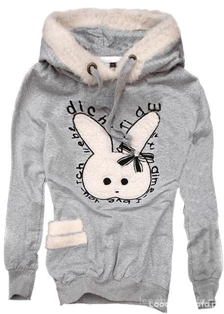 Bluzy ciepluitka bluza króliczek