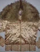 śliczna kurtka kurteczka futerko kołnierz CUDEŃKO...