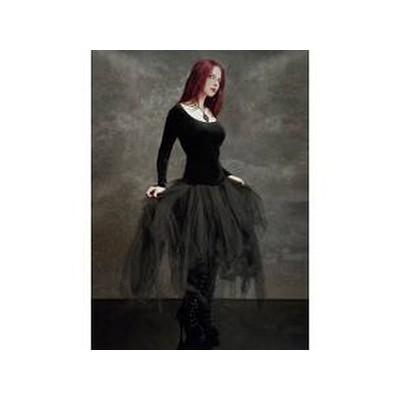 Tiulowa poszarpana spódnica goth