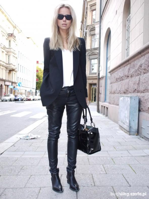 Skórzane spodnie lub leginsy