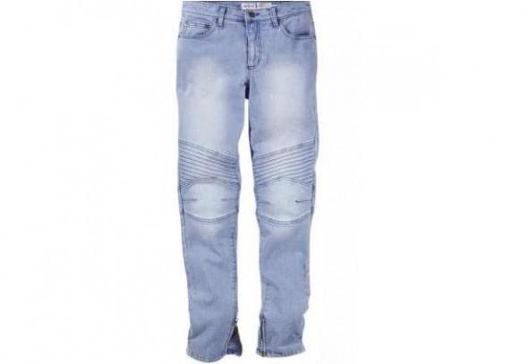 spodnie jeansy rurki przeszycia