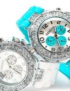Zegarek jelly watch GENEVA w Japan Style biały Swa