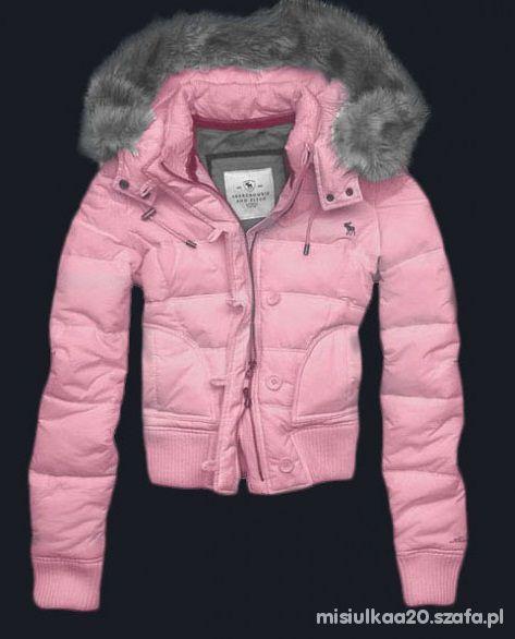 Odzież wierzchnia Różowa kurtka Abercrombie Fitch