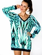 staff by maff sbm Abstract Turquoise Blouse...