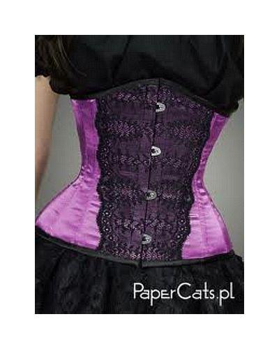 Underbust violet Papercats goth