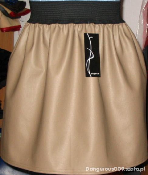 Spódnice moja cudowna spódniczka w odcieniu cappucino