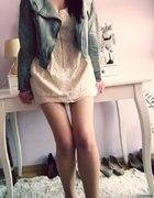 Sukienka koronkowa H&M Lace XS 34