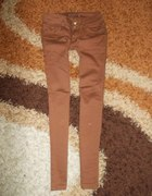 Karmelowe rurki nowe S jeansy 36