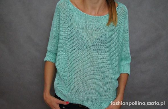 sweter oversize miętowy hit