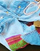 Jeansowa koszula Aztec Aztecka dżinsowa wzory XSS