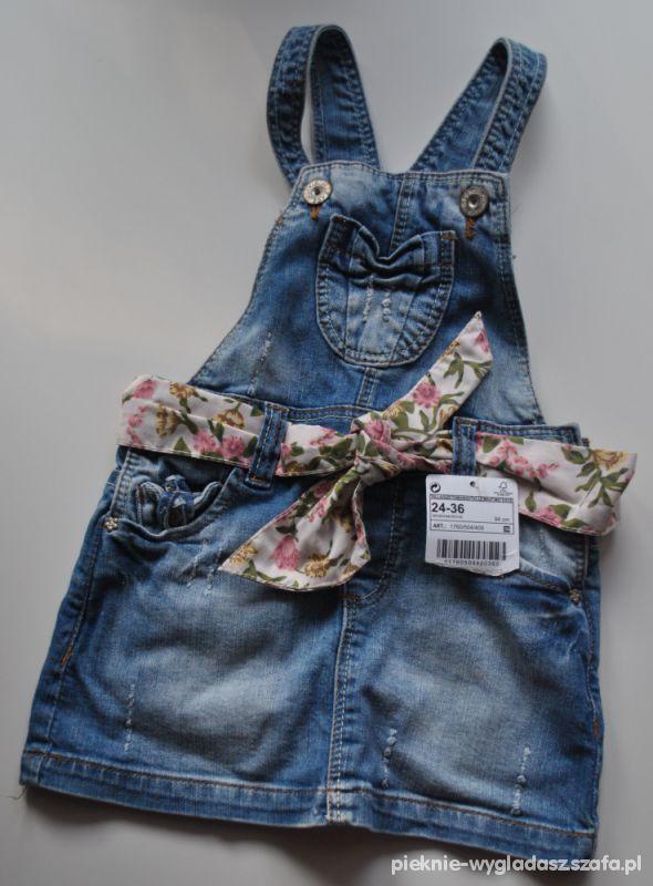 55f354394b Sukienka na szelki dla dziewczynki ZARA Kids w Sukienki i spódniczki ...