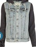 jeansowa kamizelka z bluzą