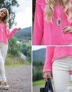 Neonowy Różowy Sweterek