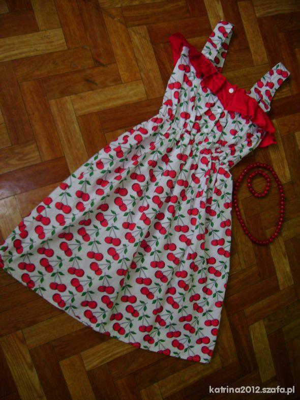 Suknie i sukienki RETRO pin up SUKIENKA W WISIENKI Topshop
