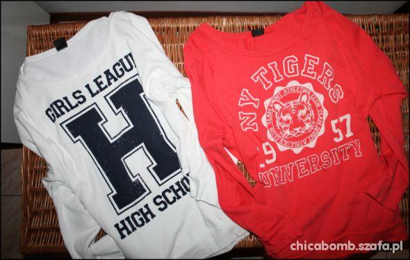 moje bluzy typu college