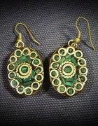 Kolczyki indyjskie zielone