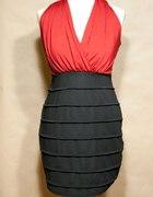 Czerwono czarna sukienka